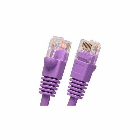 9 Foot Molded-Booted Cat5e Network Patch Cable - Purple