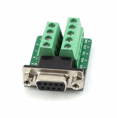 9 Pin D-Sub Female to Terminal Connectors