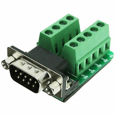 9 Pin D-Sub Male to Terminal Connectors