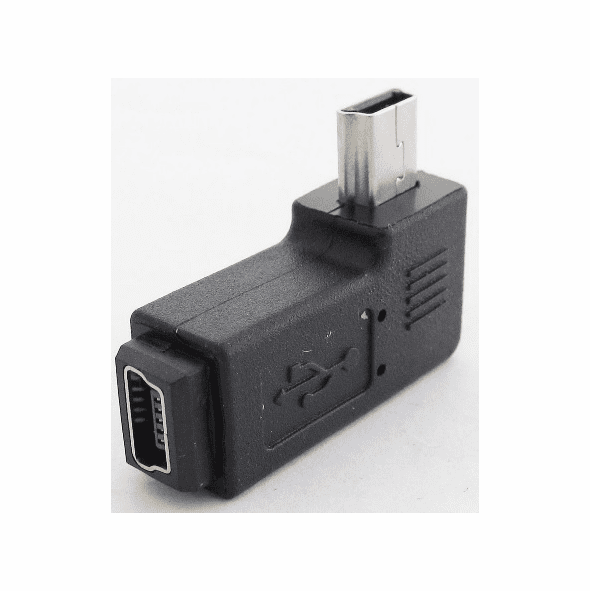 90 Degree Left Angle Mini USB Adapter
