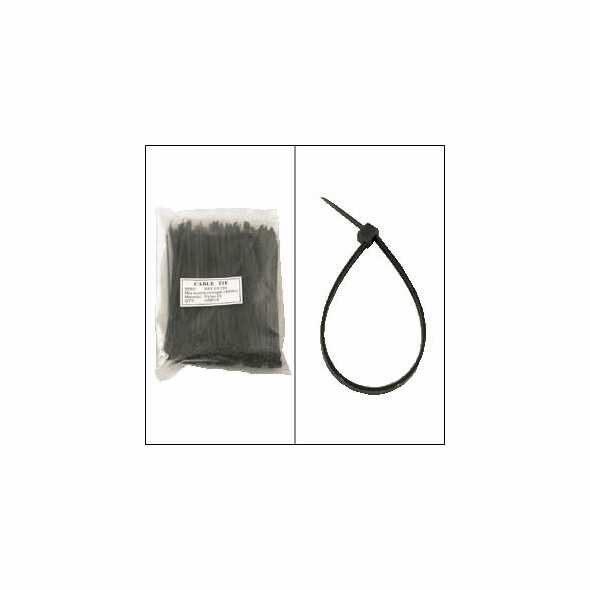 """Bag of 100 6"""" Black Cable Ties"""