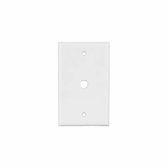 Blank Wall Plate for F Coupler - White