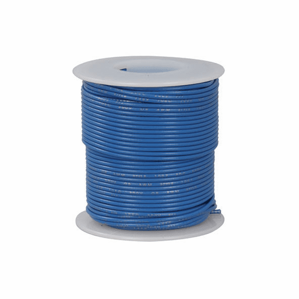 Blue 100 Foot 28 AWG stranded hook-up wire