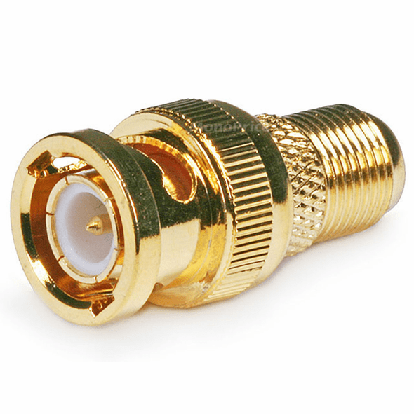 BNC Male to F Female Adapter - Gold Plated