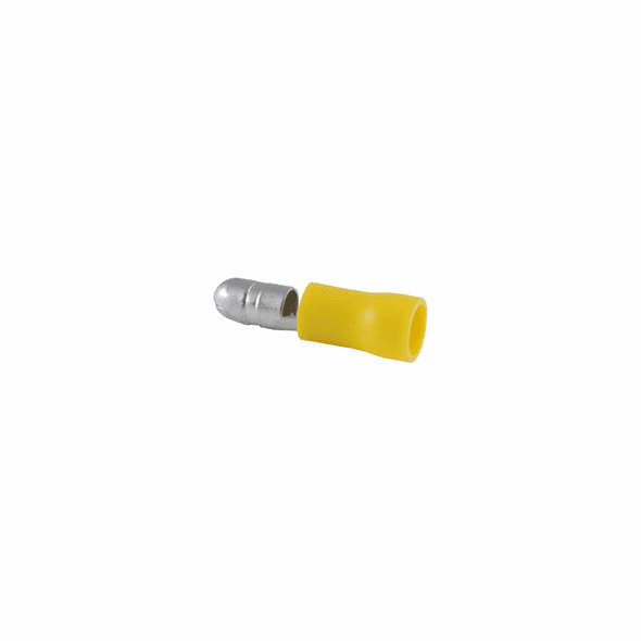 Bullet Disconnect PVC Insulated 12-10AWG Tin Plated Brass- 10 Pack