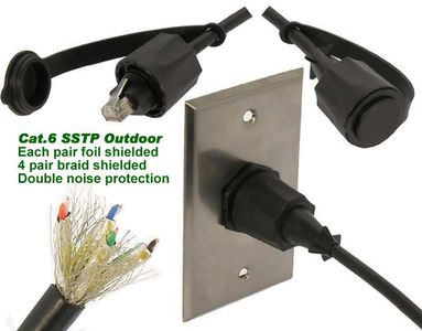 CAT 6 SSTP Industrial Outdoor Shielded Cables with Dust Caps