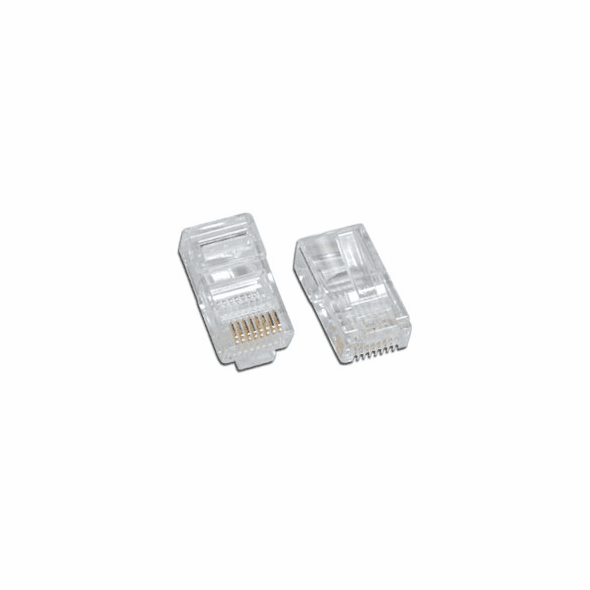 CAT5e Network Ethernet Cable Modular Plug for Solid wire 50 Pack