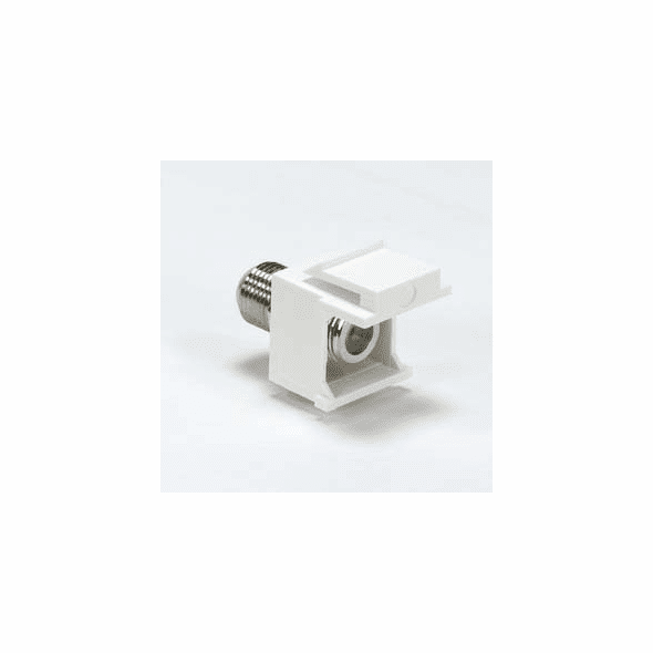 "Coax ""F"" Connector Keystone Insert - White"