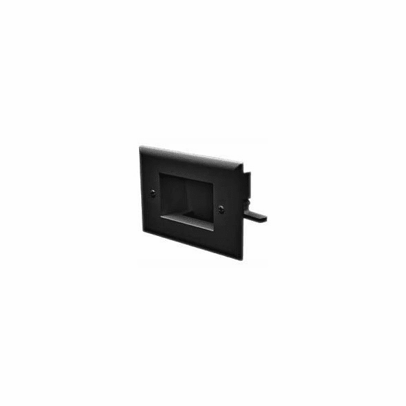 DataComm Easy Mount Recessed Low Voltage Cable Plate - Black