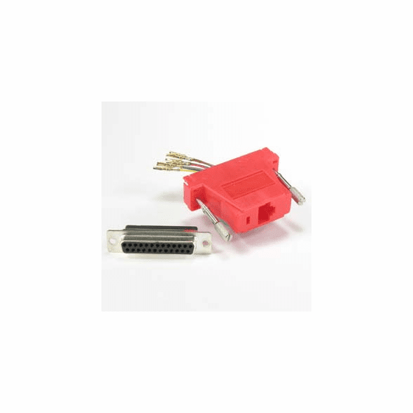 DB25 Female to RJ45 Modular Adapter - Red