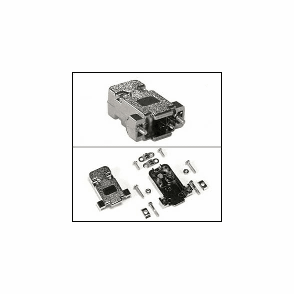 DB9 / DBHD15 Metalized Plastic Hood Kit - Screw Type