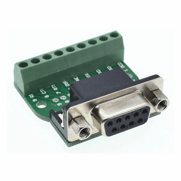 DB9 RS232 Serial to Terminal Female Adapter Connector Breakout Board