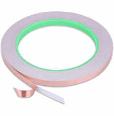 "Double Sided Conductive Copper Foil Tape - 1/4"" x 65 Feet"