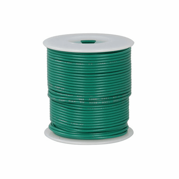 Green 100 Foot 28 AWG stranded hook-up wire