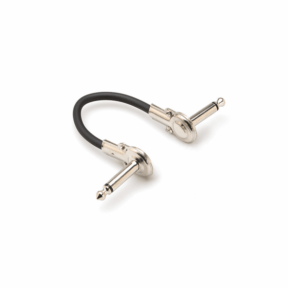 HOSA IRG-101 Guitar Patch Cable, Low-profile Right-angle to Same, 1 foot