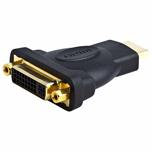 HDMI Male - DVI-D Female Adapter, Gold Plated