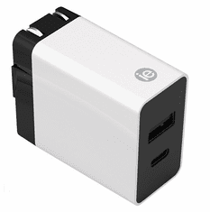 iEssentials IEN-AC31A1C-WT 3.4 Amp Dual USB Wall Charger with Type C