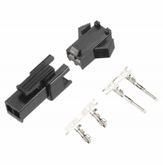 JST-SM 2 Pin 2.5mm Pitch Male and Female Plug Housing with Pins - 4 Sets