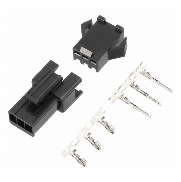 JST-SM 3 Pin 2.5mm Pitch Male and Female Plug Housing with Pins - 4 Sets