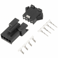 JST-SM 4 Pin 2.5mm Pitch Male and Female Plug Housing with Pins - 4 Sets