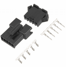 JST-SM 5 Pin 2.5mm Pitch Male and Female Plug Housing with Pins - 2 Sets