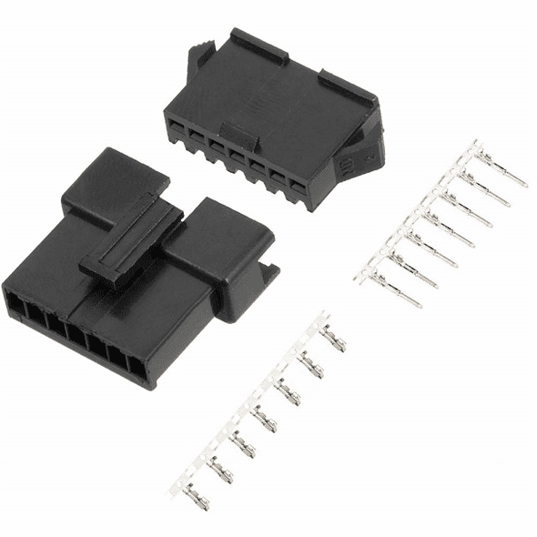 JST-SM 7 Pin 2.5mm Pitch Male and Female Plug Housing with Pins - 2 Sets