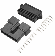 JST-SM 8 Pin 2.5mm Pitch Male and Female Plug Housing with Pins - 2 Sets
