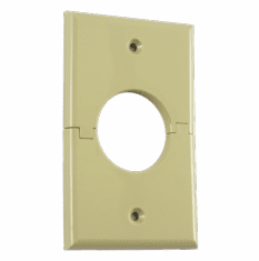 MIDLITE 1GSIV Single Gang Splitport™ (Ivory)