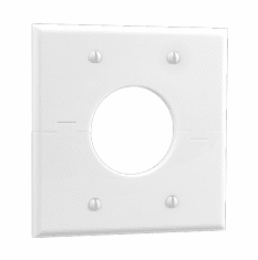 MIDLITE 2GSWH Double Gang Splitport™ (White)