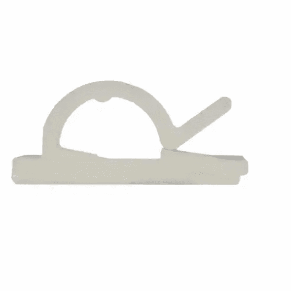 NTE 04-CLP002-9 Self Adhesive Wire Clip Natural 25mm x 25mm x 10.3mm - 50 Pack