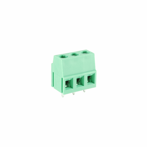 NTE 25-E700-03 Terminal Block Eurostyle 3 Pole 5.08mm Pitch 300V 20A PC Mount Terminals 24-12awg Wire Range
