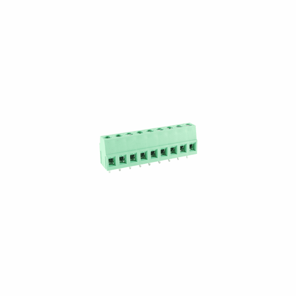 NTE 25-E700-09 Terminal Block Eurostyle 9 Pole 5.08mm Pitch 300V 20A PC Mount Terminals 24-12awg Wire Range