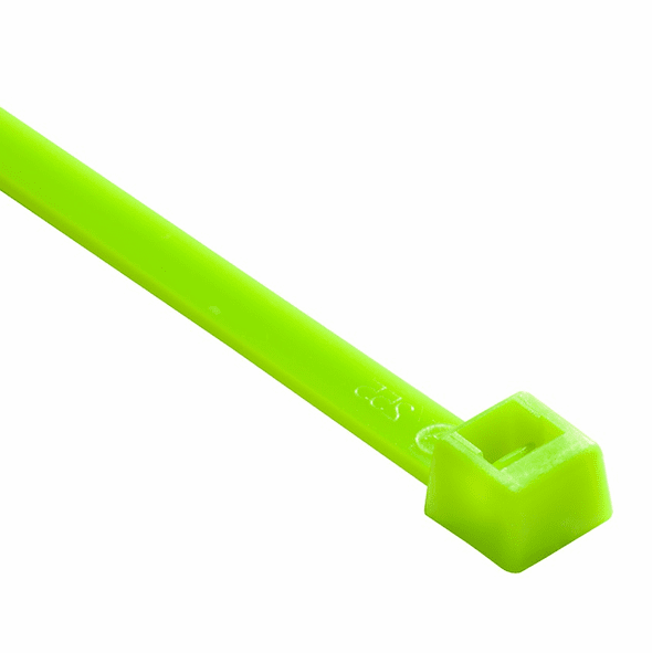 "NTE 4"" Self-Locking Nylon Cable Ties - Fluorescent Green"