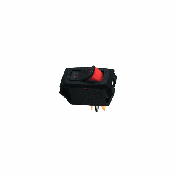 NTE 54-060 Rocker Switch SPST Off-None-On miniature snap-in 16a 125vac black actuator .250 inch qc terminals