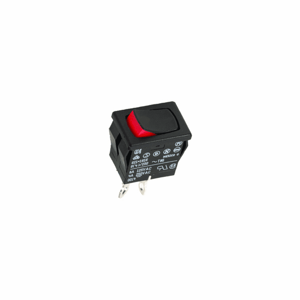 NTE 54-074 Rocker Switch SPDT On-None-On 8a 125vac snap-in .187 inch quick connect terminals