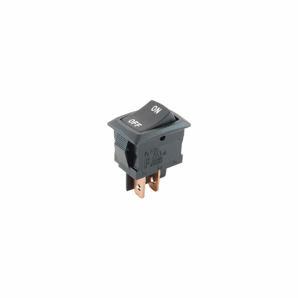 NTE 54-075-L1 Rocker Switch SPST On-None-Off 12a 125vac snap-in .187 inch quick connect terminals on-off legend