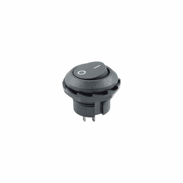 NTE 54-500 Rocker Switch round hole SPST On-None-Off 10a 125vac w/i o legend .717 in mounting hole solder lugs