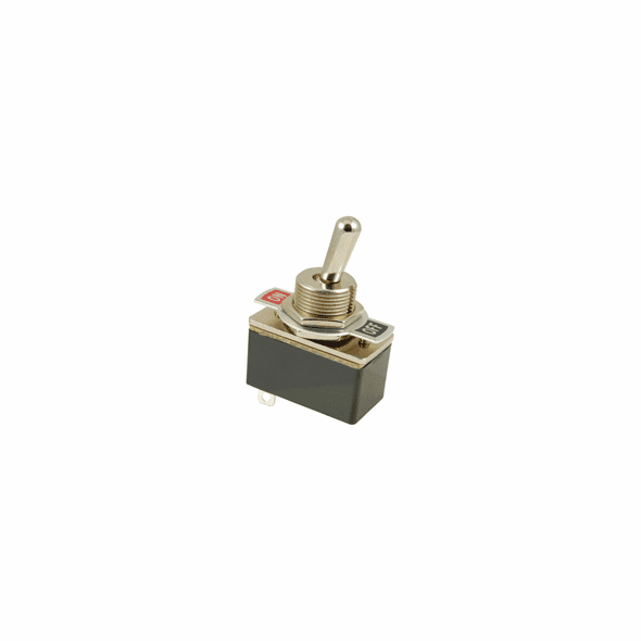 NTE 54-717 Toggle Switch SPST 3a 125vac 6a 12vdc On-None-Off solder terminals includes on-off indicator plate