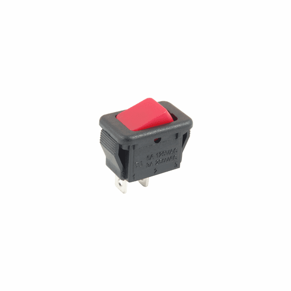 NTE 54-874 Rocker Switch micro snap-in SPST On-None-Off 6a 125vac red actuator no legend solder lug terminals