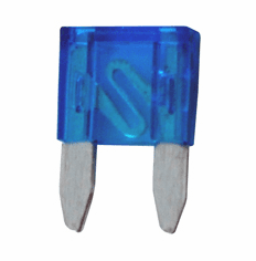 NTE 74-MAF15A Fuse-mini Automotive Atm Equivalent Blade Type 15A 32V Blue Color Fast Acting 5 Pack