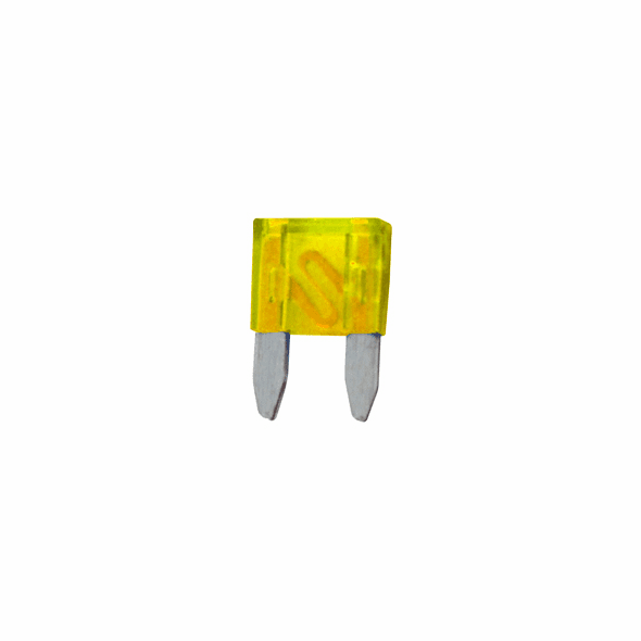 NTE 74-MAF20A Fuse-mini Automotive Atm Equivalent Blade Type 20A 32V Yellow Color Fast Acting 5 Pack