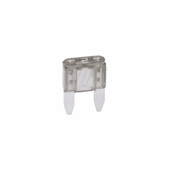 NTE 74-MAF2A Fuse-mini Automotive Atm Equivalent Blade Type 2a 32V Gray Color Fast Acting 5 Pack