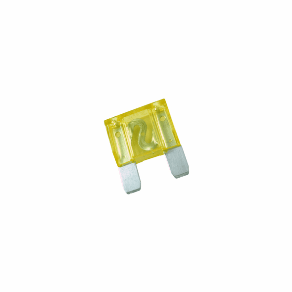 NTE 74-XAF20A Fuse-automotive Max Equivalent Blade Type 20amp 42vdc Yellow Color Fast Acting 2 Pack