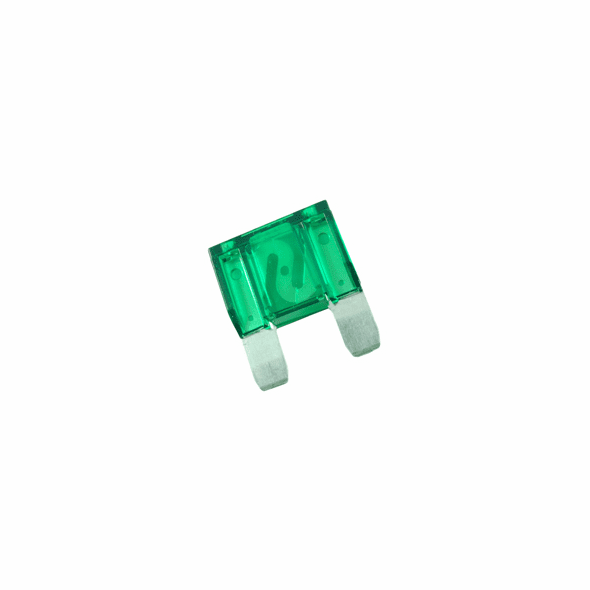 NTE 74-XAF30A Fuse-automotive Max Equivalent Blade Type 30amp 42vdc Green Color Fast Acting 2 Pack