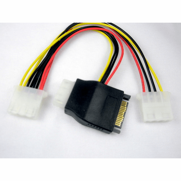 OK Gear 8 Inch SATA Power Adapter to 3 4 Pin Molex Power Adapters