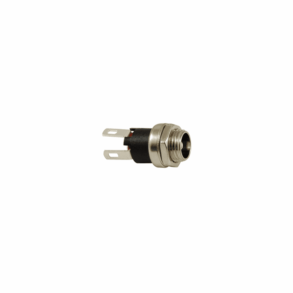 NTE Power Jack DC Panel Mount 5.5mm X 2.1mm 24V 2amp Metal And Nylon .320 Inch Mounting Hole 2 Lead