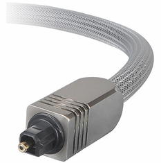 Premium 10 Foot Digital Optical Toslink Cable, 8.0mm OD, with Silver Mesh and Metal Connector
