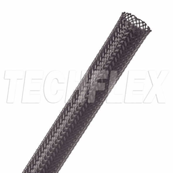 "PTN0.50BK - Flexo® PET - 1/2"" - Black Sleeving - Per Foot"