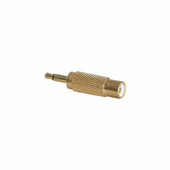 RCA Female Jack to 3.5mm Male Mono Plug - Gold Plated Metal Body