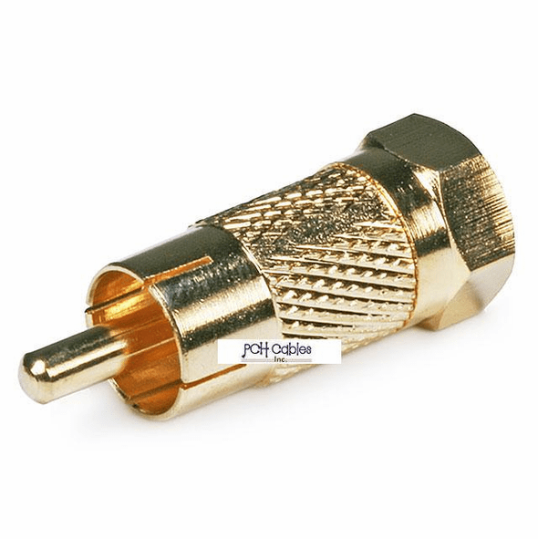 RCA Male to F Male Adapter - Gold Plated